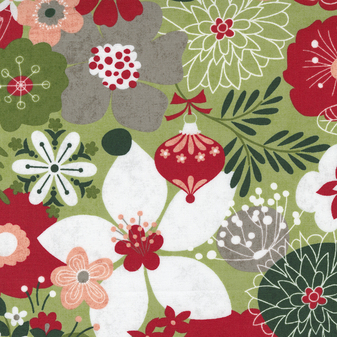 Hustle And Bustle - Carols Modern Floral in Pear by BasicGrey