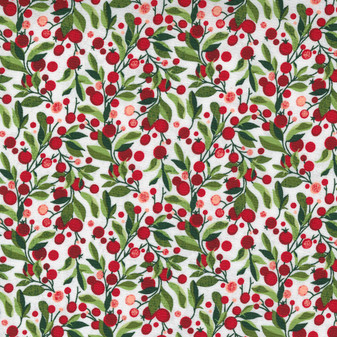 Hustle And Bustle - Modern Berry Garland in Blizzard by BasicGrey