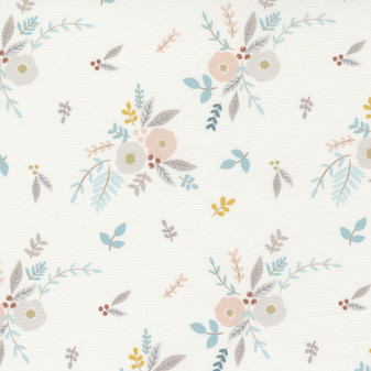 Little Ducklings Floral Bouquet on White by Paper & Cloth