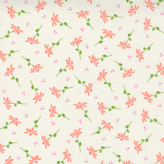 Sincerely Yours Dainty Floral Daisy on Ivory by Sherri & Chelsi