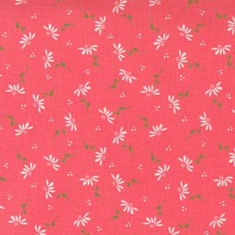 Sincerely Yours Dainty Floral Daisy on Flamingo (deep pink) by Sherri & Chelsi