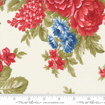 Belle Isle by Minick & Simpson - Americana Floral on Cream