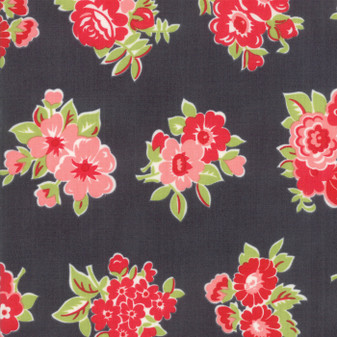 LITTLE SNIPPETS Marmalade Floral in Charcoal #55188-16