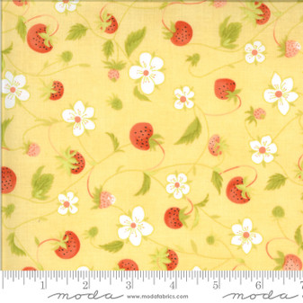 Chantilly by Fig Tree & Co. Strawberry Vine in Yellow