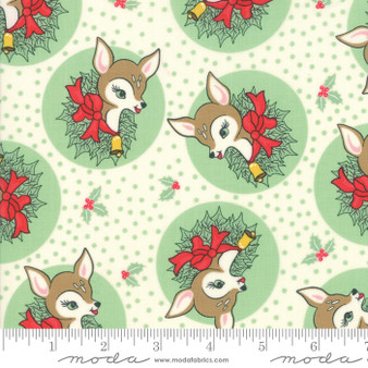Deer Christmas Polka Dot Deer in Spearmint