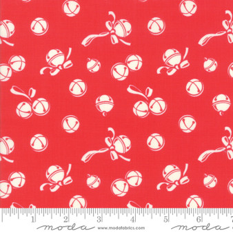 Deer Christmas Jingle Bells  in Peppermint