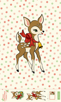 Deer Christmas Digital Panel