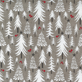 """5 YARD BACKING - Hustle and Bustle """"Pine Trees"""" with Grey Background"""