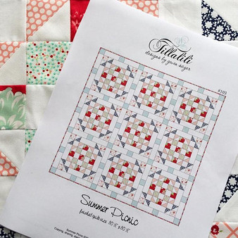 SUMMER PICNIC - Lap Size Quilt Pattern - PDF DIGITAL DOWNLOAD