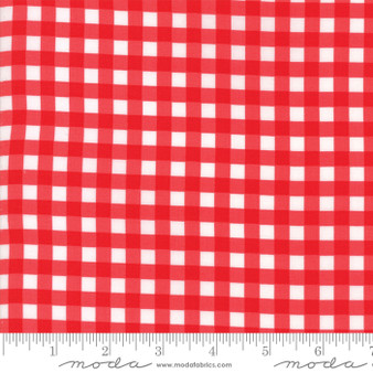 Vintage Holiday - Plaid - Red