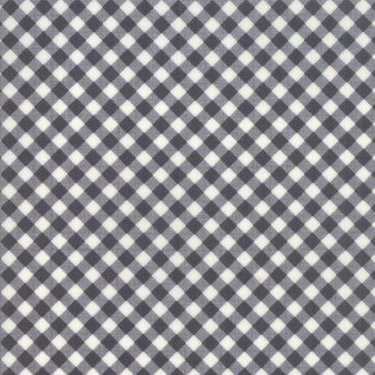 LITTLE SNIPPETS Little Bias Gingham in Charcoal #55186-16