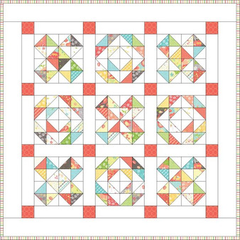 OH THOSE X'S - Baby Quilt Pattern - PAPER PATTERN