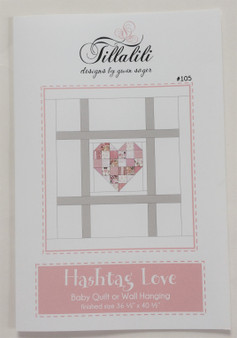 Hashtag Love Quilt Paper Pattern (w/printing defect)