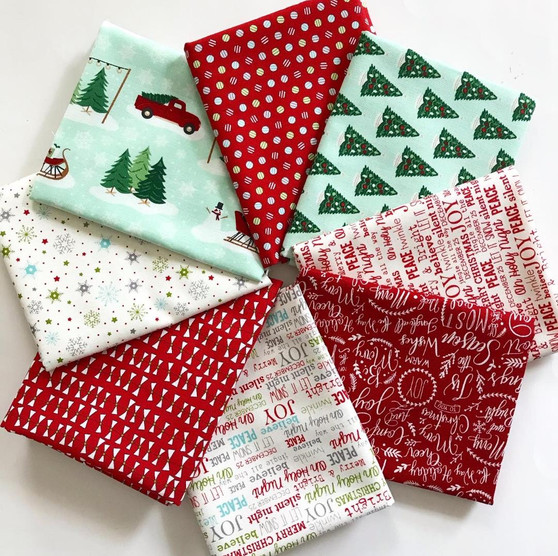 Christmas Traditions Curated Fat Quarter bundle - 8 FQs