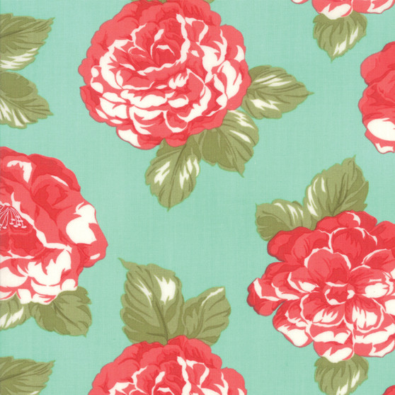 Early Bird Blooms in Aqua by Bonnie And Camille