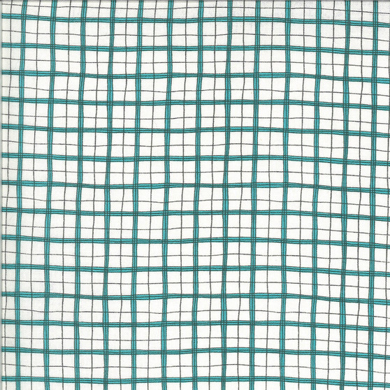 Animal Crackers  by Sweetwater Fabrics - Plaid in Splash