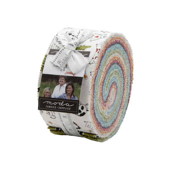 """Animal Crackers Jelly Roll by Sweetwater Fabrics - 2.5"""" x WOF Strips"""