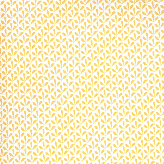 Spring Chicken - Sprouts on Yellow - by Sweetwater Fabrics