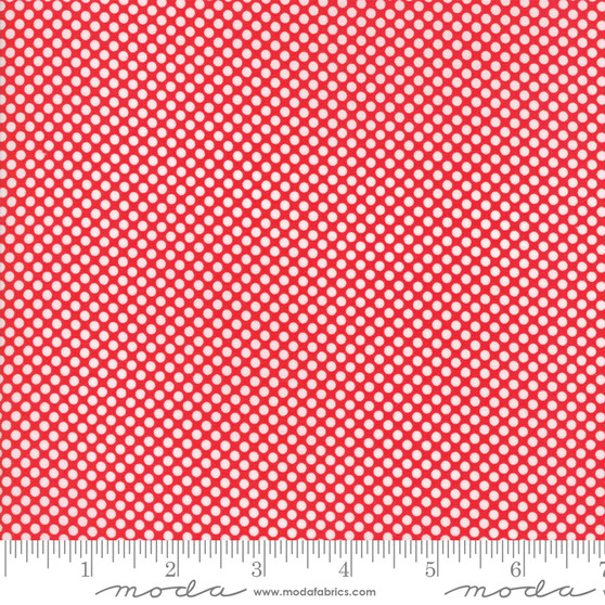 Vintage Holiday - Dots - Red