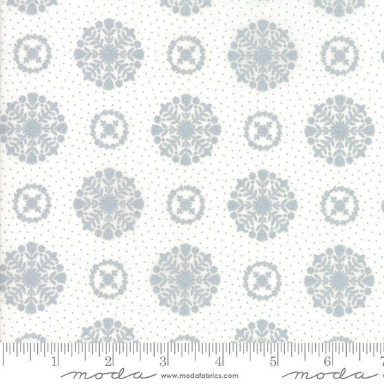 Vintage Holiday - Snowflakes - Metallic Silver