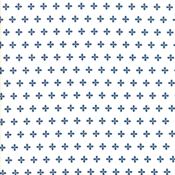 Orchard by April Rosenthal Half Yard Cut - Apple Seed in White #24077-14
