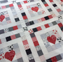 Actual Quilt Top made with First Crush Fabric by Sweetwater Fabrics for Moda.