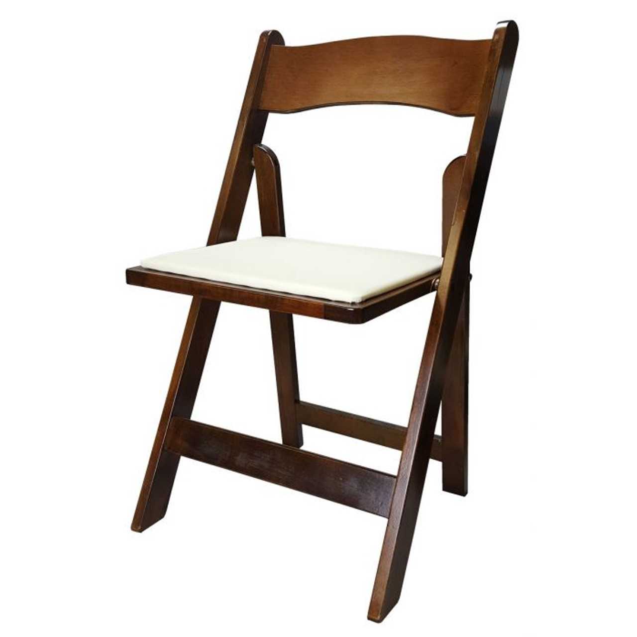 Folding Padded Chair Fruitwood Persiano Event Rentals