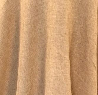 Burlap 120 Inch Round Table Cloth Persiano Event Rentals