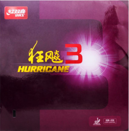 DHS Hurricane 3 Rubber - Mid/2.15mm/(Black or Red)
