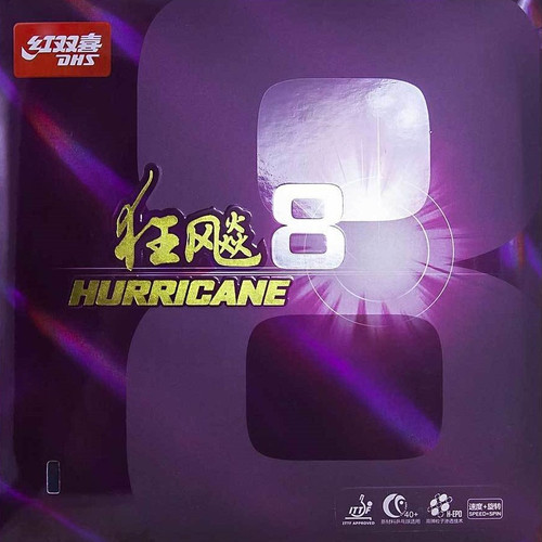 DHS Hurricane 8 Rubber - Mid/2.15mm/(Black or Red)