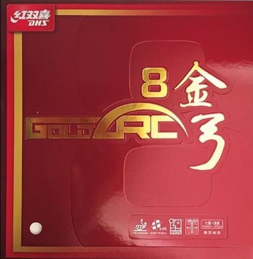 DHS Gold-Arc 8  Rubber - 50°/MED/(Black or Red)