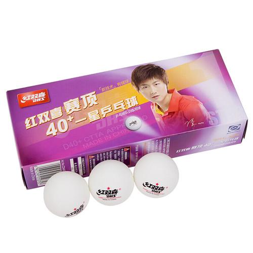 100pcs DHS  D40+ 1 Star Seamed ABS Table Tennis Balls (White/Orange)