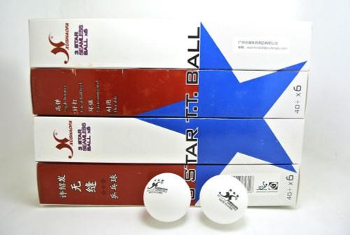 24pcs Xushaofa 40+ 3 Star Seamless Table Tennis Balls (White Color)