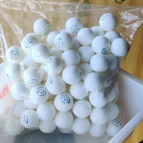 100pcs AGMC 40+ 2 Star Table Tennis Training Balls (White/Orange)