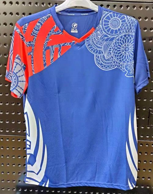 YUYUFAN T Shirt  (Red/Blue)