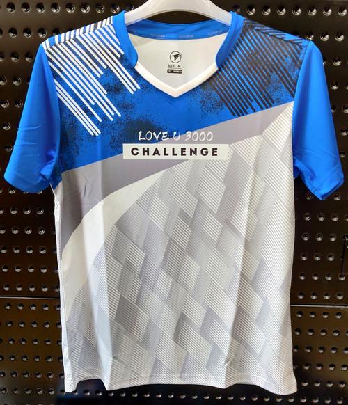YUYUFAN T Shirt  (Blue/Light Grey)