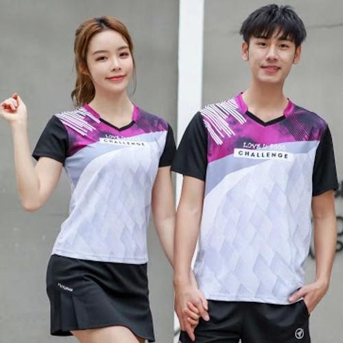 YUYUFAN T Shirt  (Pink/Light Grey)
