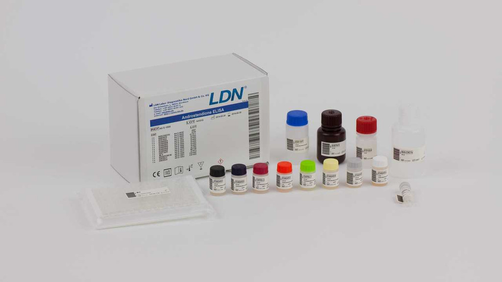 Androstenedione ELISA  enzyme immunoassay for the quantitative measurement of androstenedione in serum and plasma. By RMDiagnostics.