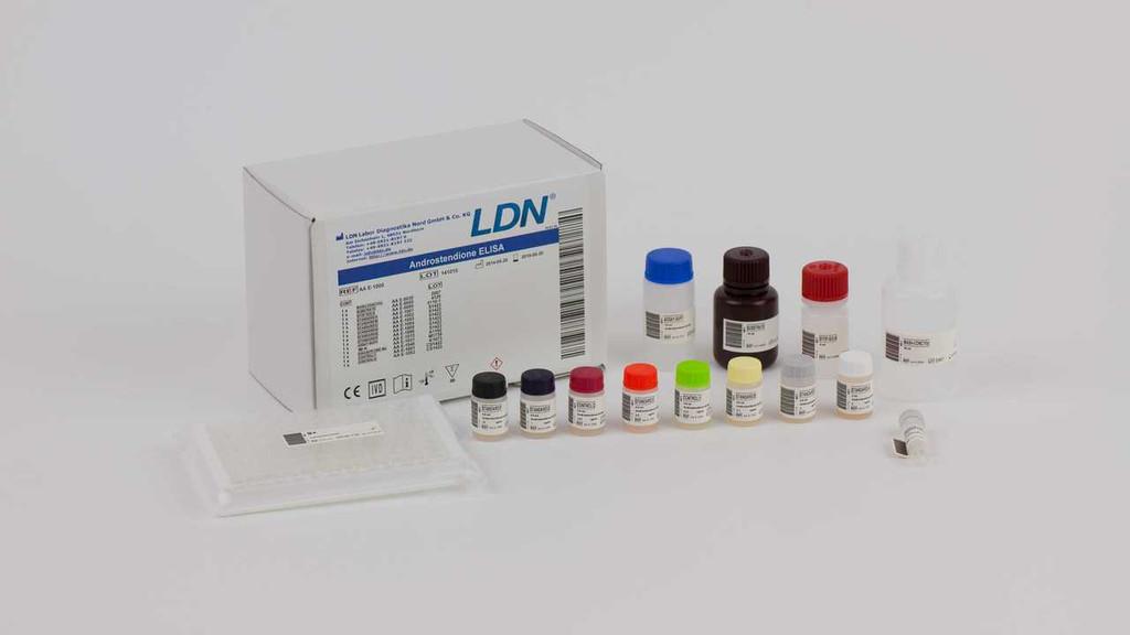 Androstenedione ELISA  enzyme immunoassay for the quantitative measurement of androstenedione in serum and plasma. By RMDiagnostics.