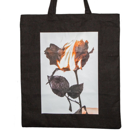 Tote Bag - Black Rose