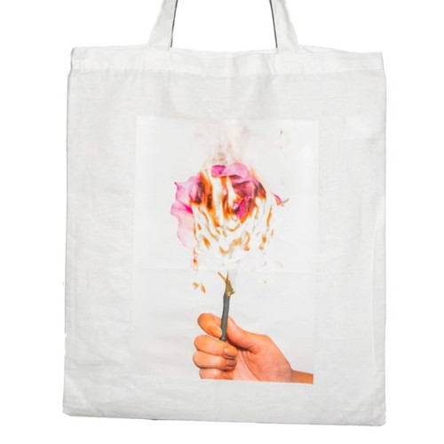 Out of Stock: Tote Bag White Pink Rose