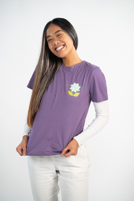 Girls with Power Love and Sound Minds Tee (Purple)
