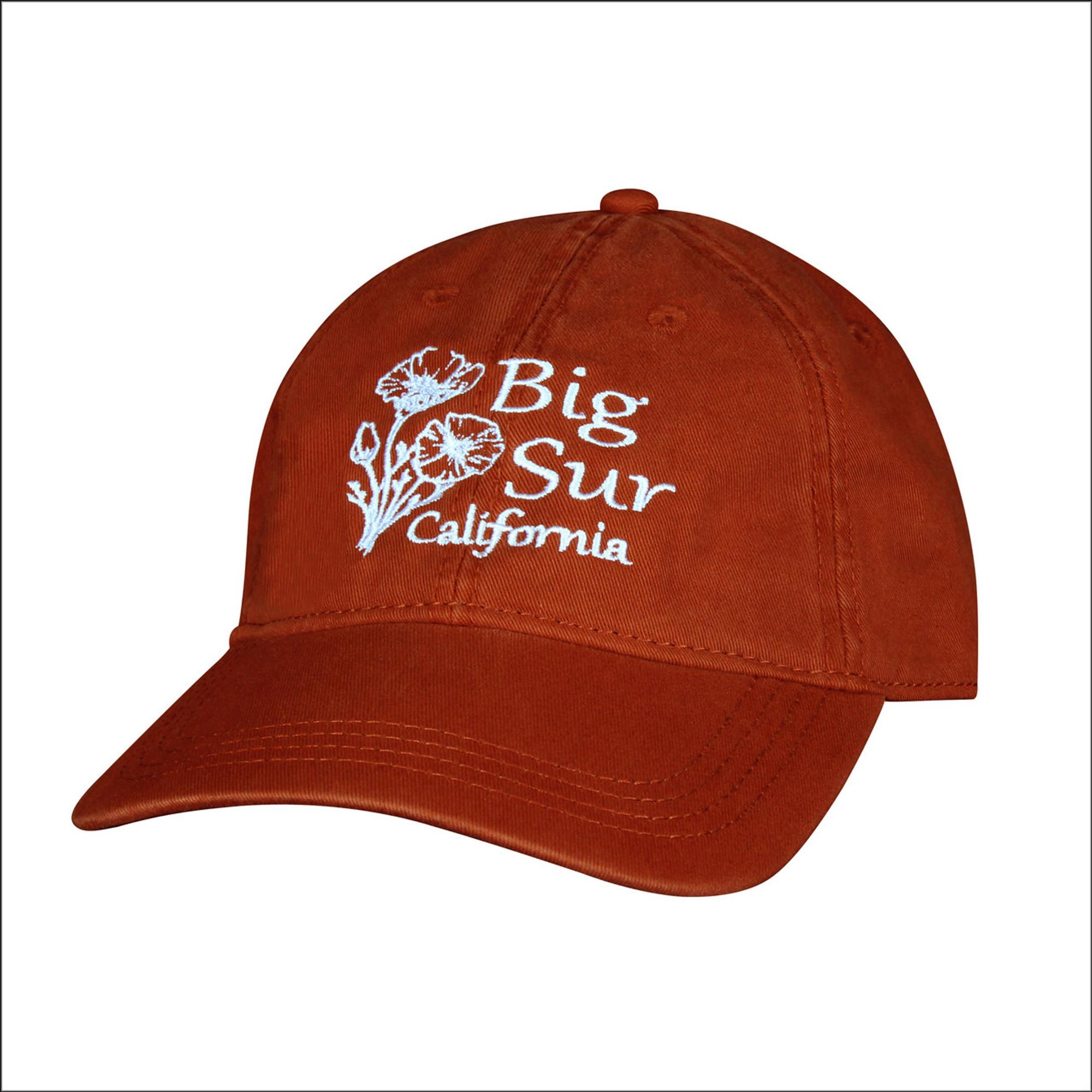 5bc444fb351 Baseball Cap • Poppies - Burnt Orange - Real Big Sur