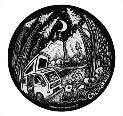 Camping in Big Sur in a Westfalia camper van