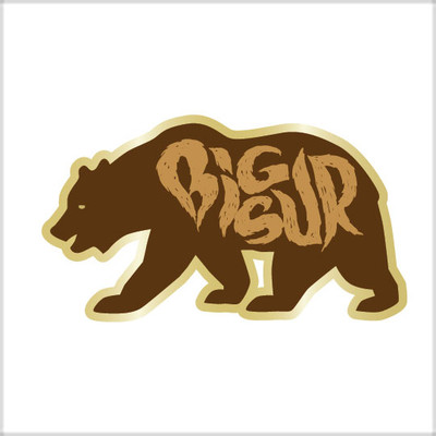 Bear pin w/ logo