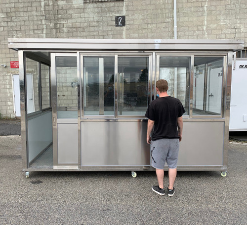 304 Stainless Steel 12ft x 6.5ft with wheels door at 12ft side