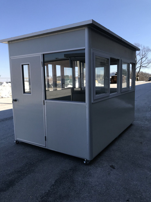 skinned insulated panels Guard Shack  booth 10x6.5x7.5ft