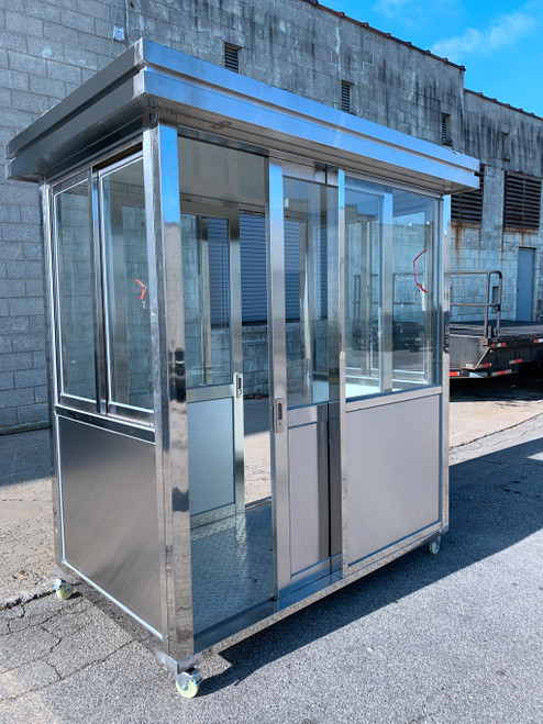 304 Stainless Steel Guard Shack Booth Portable Booths guard booths 6.5ft x 4ft