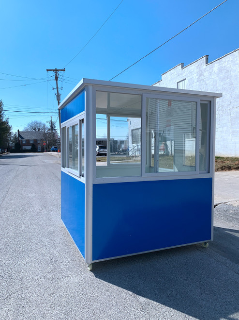 Color Steel blue Guard Shack  booth 6.5ftx6.5ft