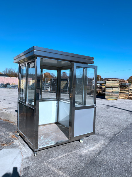 304 stainless steel guard shack booths 5ft x 5ft